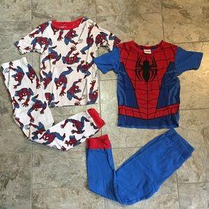2 pair of Spider-Man pajamas, size 8